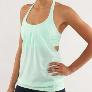 Lululemon mint green, practice freely, tank size 4